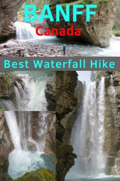 Johnston Canyon hike is the best waterfall hike in Banff National Park