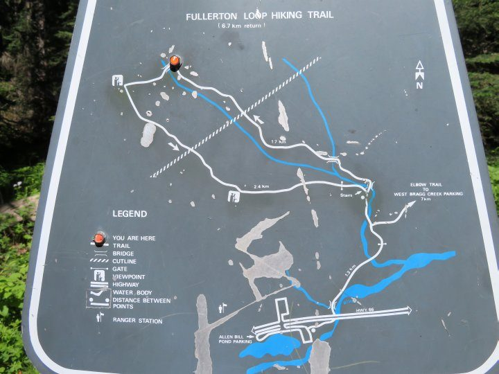 Fullerton Loop hiking trail map