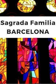 Sagrada Familia Barcelona colorful stained glass windows