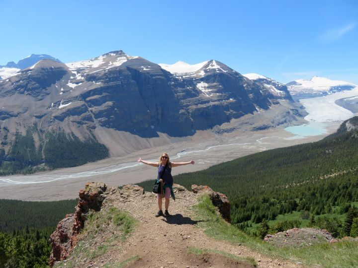 Parker Ridge trail overlook to Saskatchewan Glacier
