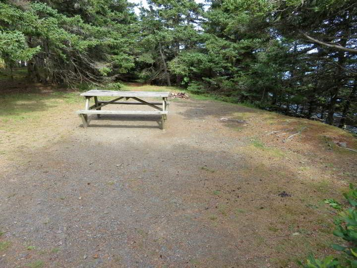 Camping site at the Ovens Park in Riverport Nova Scotia