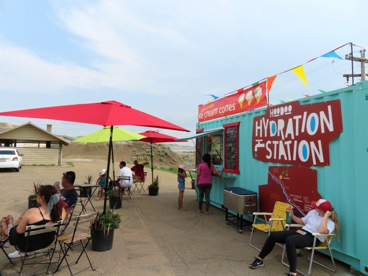 Hoodoo Hydration Station - ice cream truck at Drumheller Hoodoos