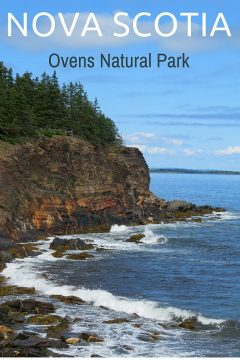 Nova Scotia Ovens Natural Park cliff trail of sea caves