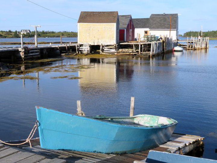 Blue Rocks Nova Scotia wharf on the South Shore region of NS