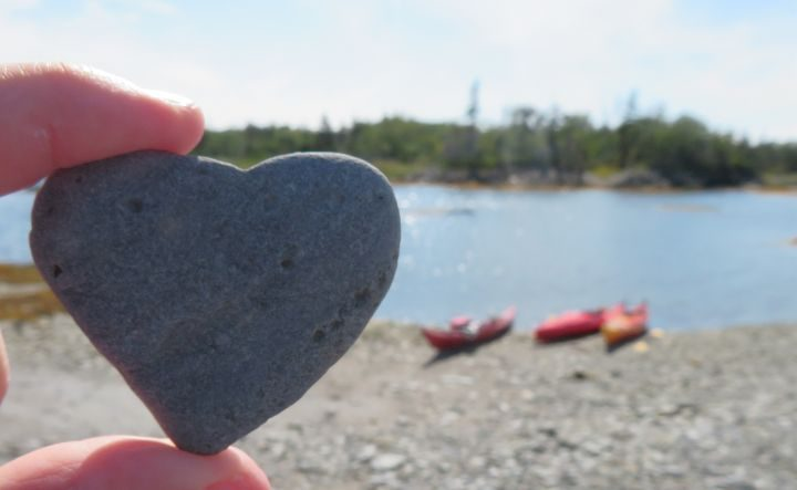 I LOVE Nova Scotia!!! Heart shaped stone - beach find while kayaking from Blue Rocks NS