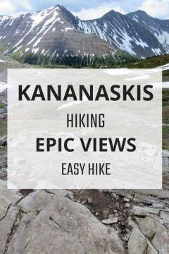 Kananaskis hiking trail with epic views. Ptarmigan Cirque is an easy hike in Kananaskis Country Alberta
