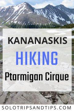 Kananaskis hiking Ptarmigan Cirque - panoramic Rocky Mountain views in beautiful Alberta Canada