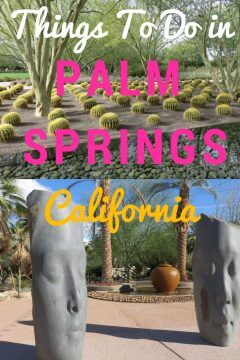 Desert botanical garden and outdoor sculpture garden among things to do in Palm Springs California. This guide to all Palm Springs top attractions, where eat, drink, stay and play in Palm Springs