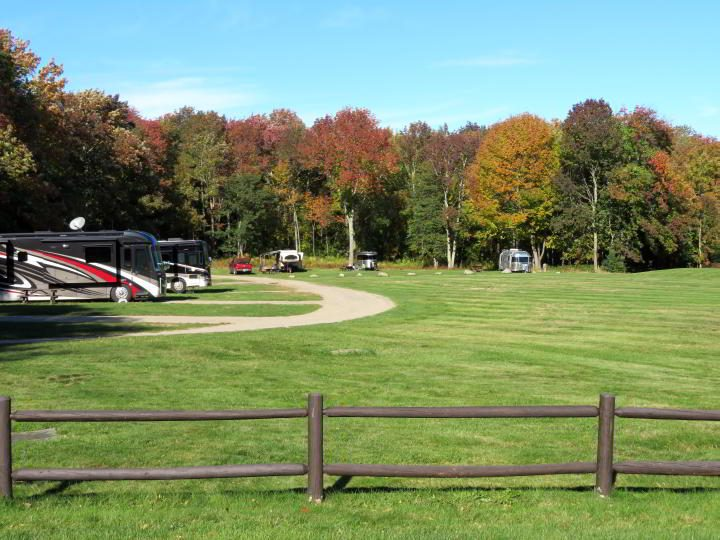 RV and trailer campground at Camden Hills State Park in Maine