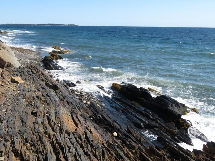 Rocky coastline portion of Gaff Point trail Nova Scotia South Shore