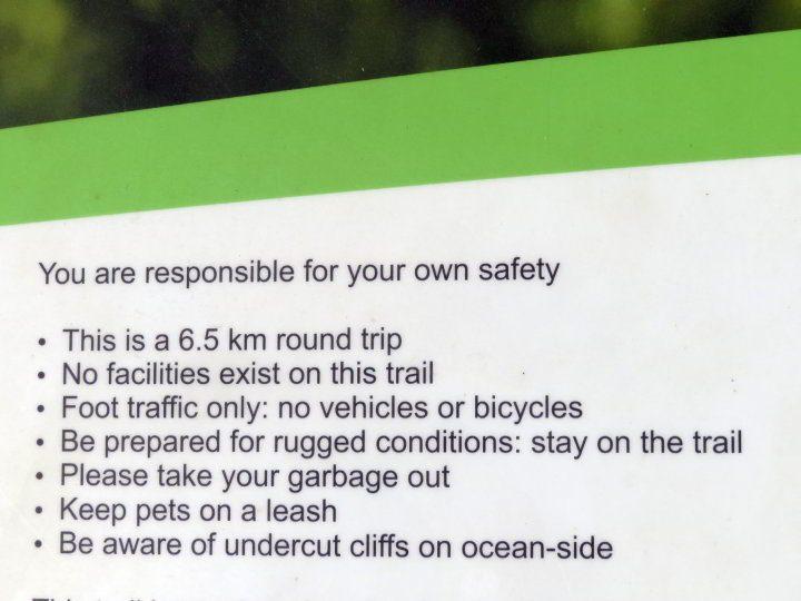 Hirtle's Beach Gaff Point hiking information