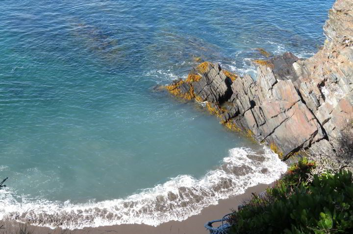 Watch the waves crash into the rocky shoreline from Gaff Point trail at Hirtle's Beach on Nova Scotia's South Shore
