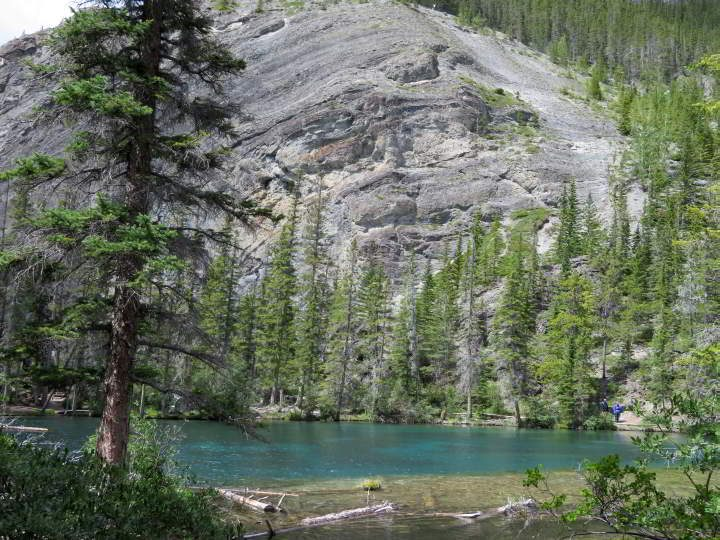 First glimpse of Grassi Lake
