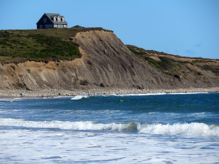 House on the hill overlooking the ocean at Hirtle's Beach Nova Scotia