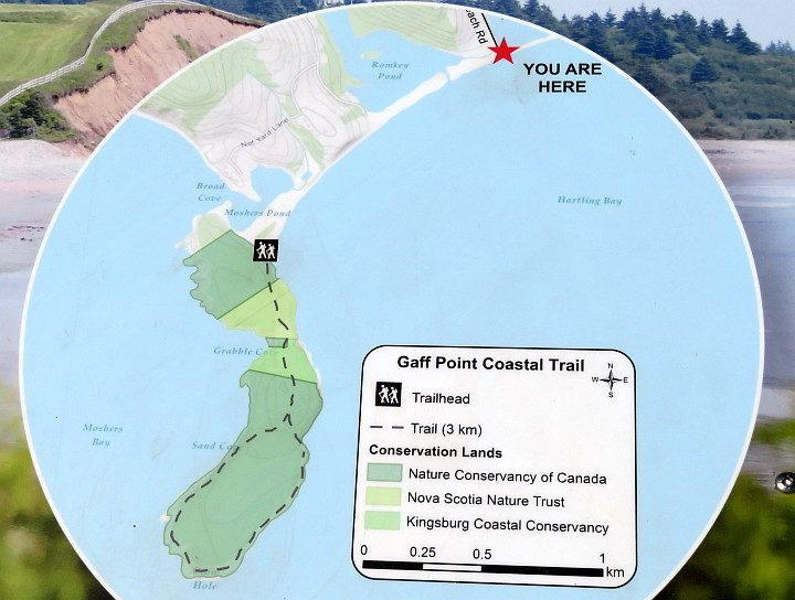 Gaff Point Coastal Trail map