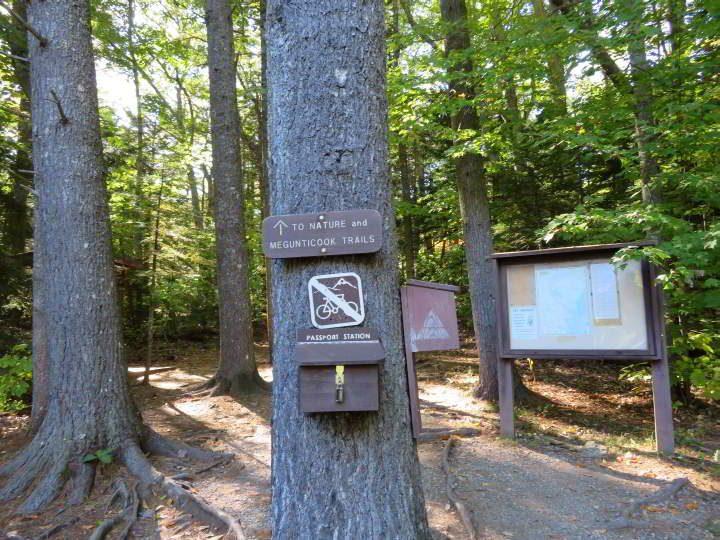 Megunticook trailhead at Camden Hills State Park, mid-coast Maine