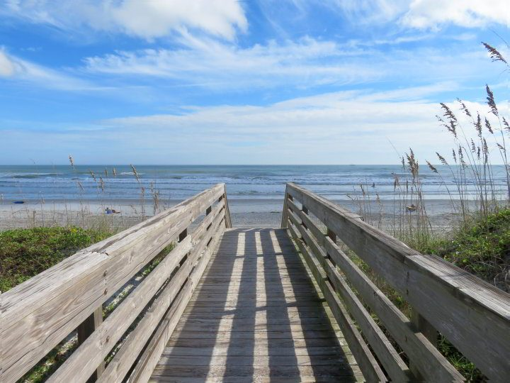 Boardwalk to Butler Beach in St Johns County Florida