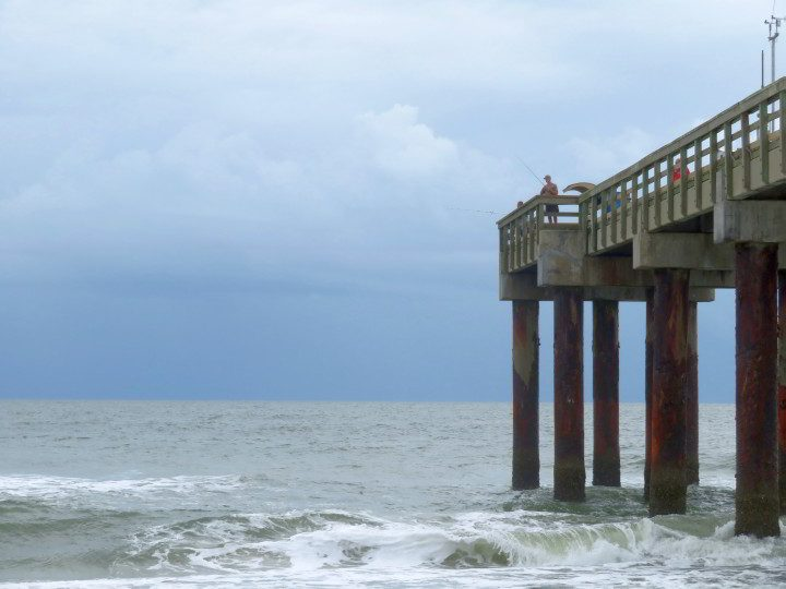 St Johns County Ocean Pier at St Augustine Beach FL