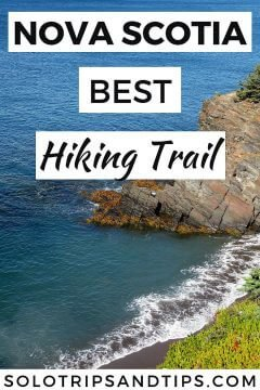 Nova Scotia's best hiking trail with beautiful coastal views, beaches, and forest, HIrtle's Beach Gaff Point hike is the one to do in South Shore NS Canada