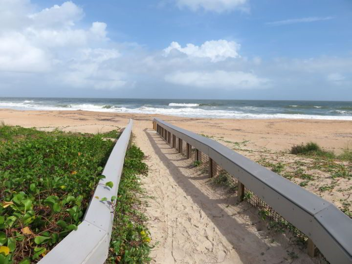 Sand walkway to South Ponte Vedra Beach in northeastern Florida