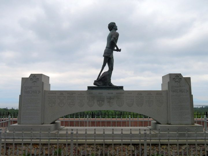 Terry Fox Memorial and Lookout in Thunder Bay ON commemorating the young cancer research activist and his Marathon of Hope