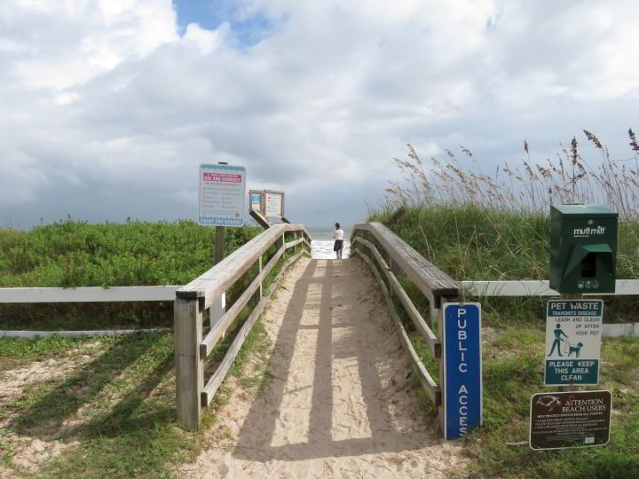 Sand walkway to Vilano Surfside Park - just a few minutes from St Augustine FL