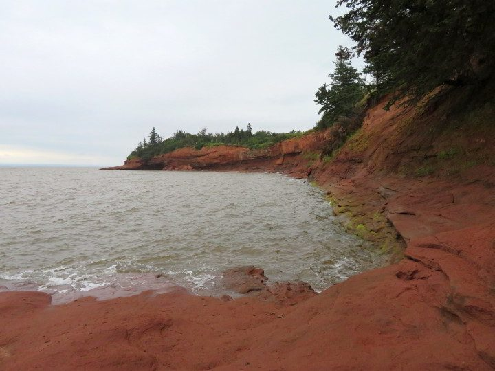 High tide at Burntcoat Head Park on the Bay of Fundy in Nova Scotia