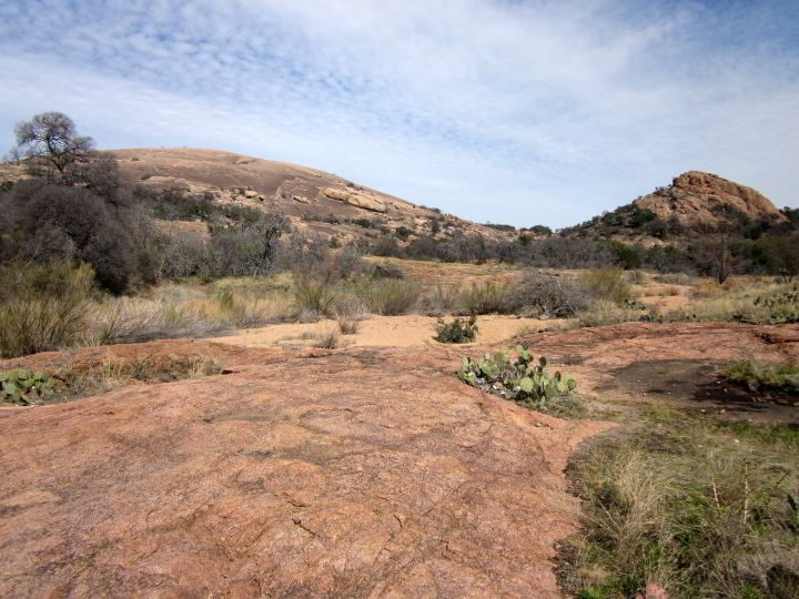 Enchanted Rock hiking trail in Central Texas Hill Country