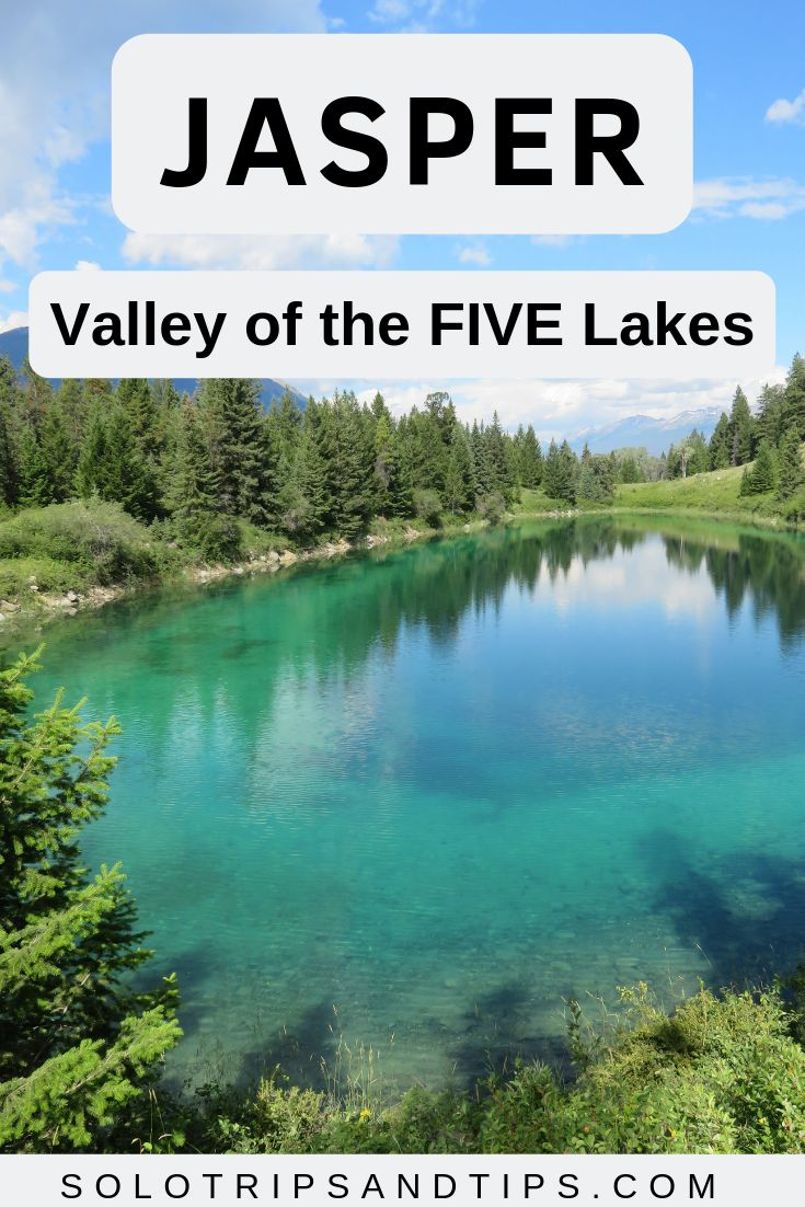 Jasper Valley of the Five Lakes hike features 5 turquoise glacier lakes