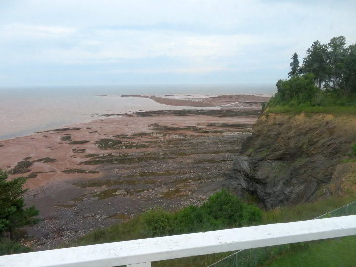 Low tide in the Minas Basin, observed from Walton Lighthouse Nova Scotia