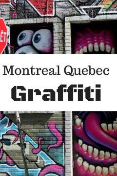 Montreal Quebec graffiti street art and murals