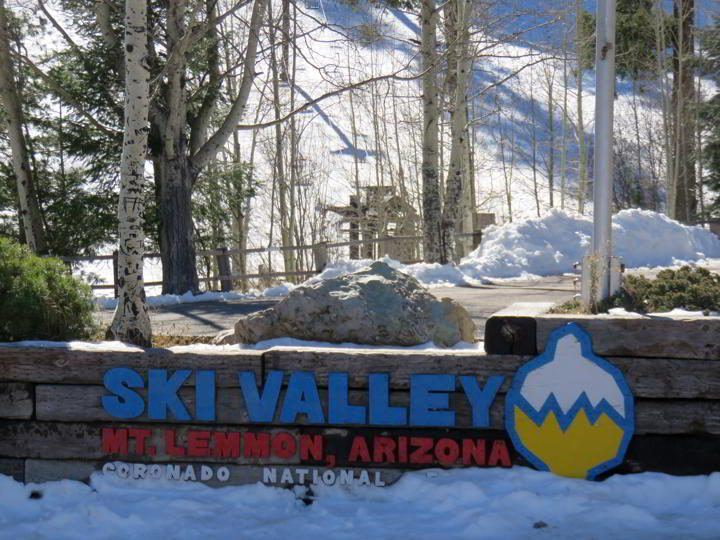 Snow in November at Ski Valley Mt Lemmon Arizona Coronado National Forest