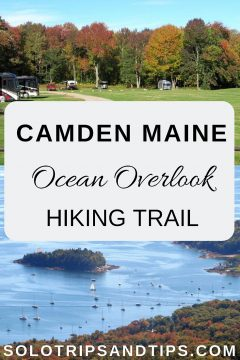 Camden Maine ocean overlook hiking trail in New England
