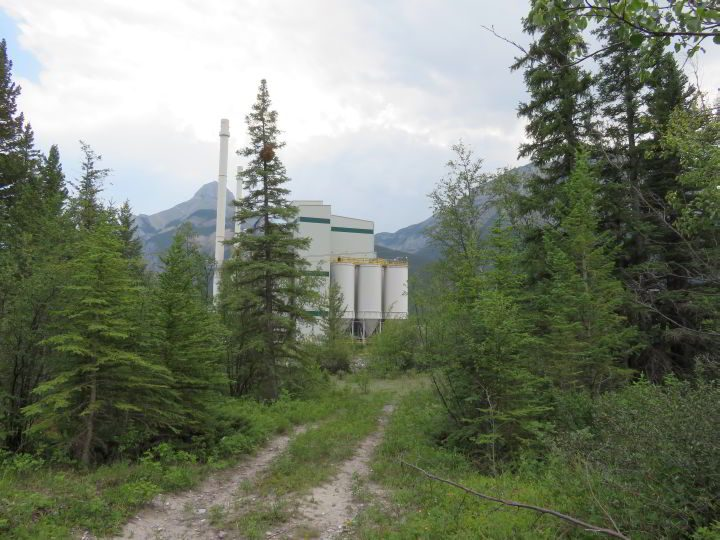 Baymag facility is seen from the Grotto Canyon trail