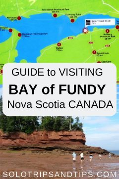 Bay of Fundy guide to visiting the highest tides in the world with map and visitor info - Nova Scotia Canada