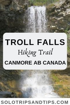 Troll Falls hike is a favorite hiking trail near Canmore Alberta Canada