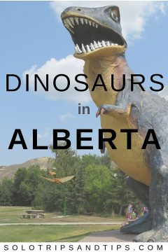 World's biggest dinosaur in Drumheller Alberta Canadian Badlands