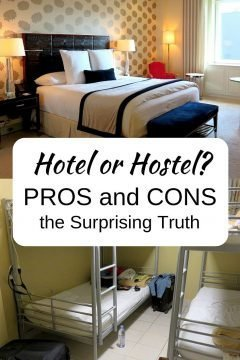 Hotel or hostel? A comfy bed at the Ritz or a bed in a dorm at a hostel, the pros and cons of each