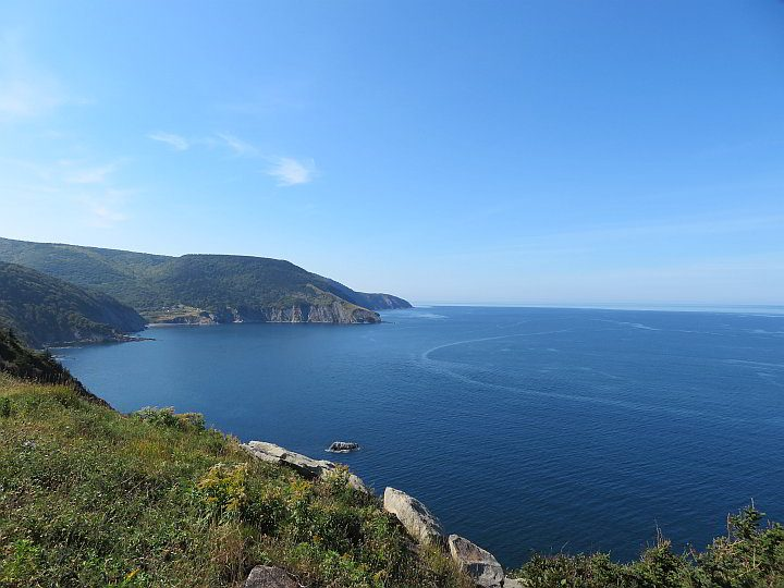View of the Gulf of Saint Lawrence from Meat Cove Road in Cape Breton NS