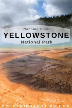 Planning guide for a trip to Yellowstone National Park - Grand Prismatic Spring is a popular attraction