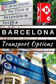 Barcelona transport tips and options including getting to/from BCN airport to central historic district. Metro, bus, tram, bicycle rental and more