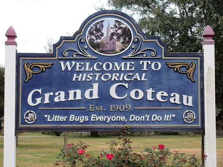Welcome to Historical Grand Coteau Est. 1909 - wooden sign