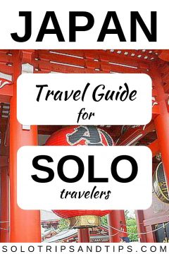 Japan travel guide for solo travelers