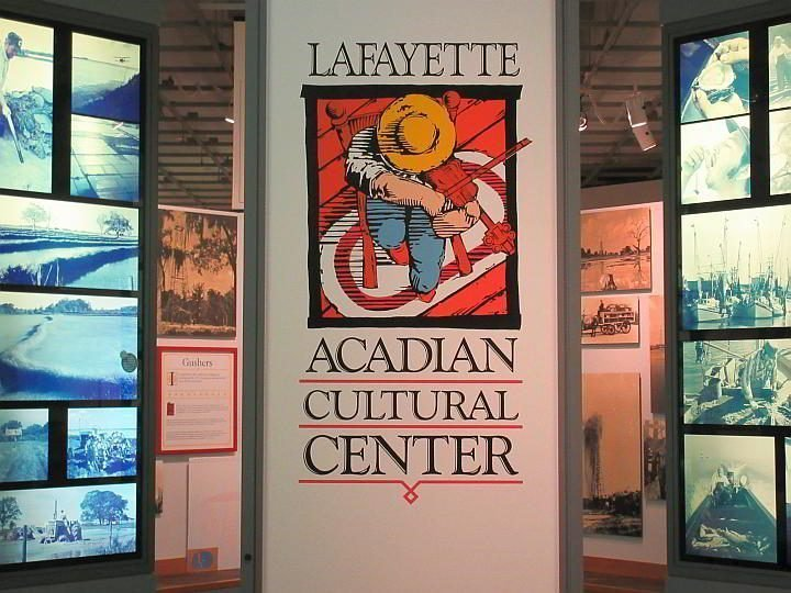 The Lafayette Acadian Cultural Center museum in Lafayette LA - photo of display panels