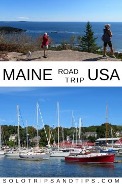 Maine USA east coast road trip with hiking at Acadia NP and scenic harbors in small towns