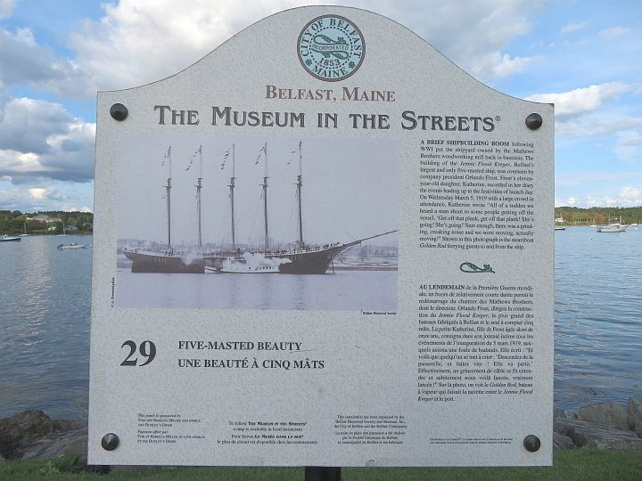 Belfast Maine Museum in the Streets features 30 historical panels around town