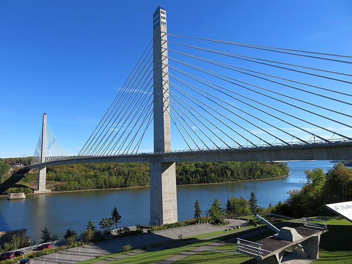 Penobscot Narrows Bridge Observatory and Fort Knox are popular tourist attractions in Maine
