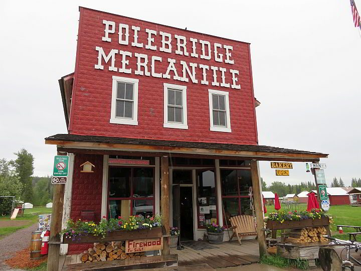 "Polebridge Mercantile aka ""the Merc"" has an excellent bakery plus cabins for rent"