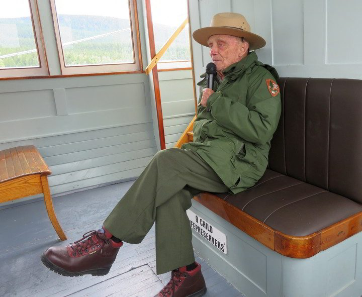 Ranger Doug working at Glacier National Park since 1961 - he will be 93 years old in 2019