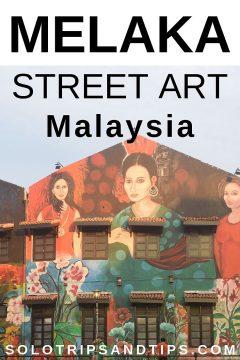 Melaka Malaysia street art murals - Nyonya Ladies mural beside Melaka River